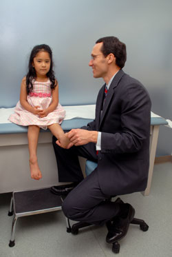 Dr. Scaduto with pediatric patient